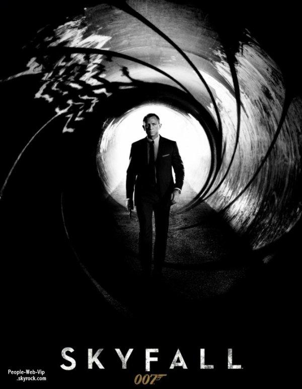 """DÉCOUVREZ L'affiche officiel du nouveau James Bond 007 """" SKYFALL"""""""