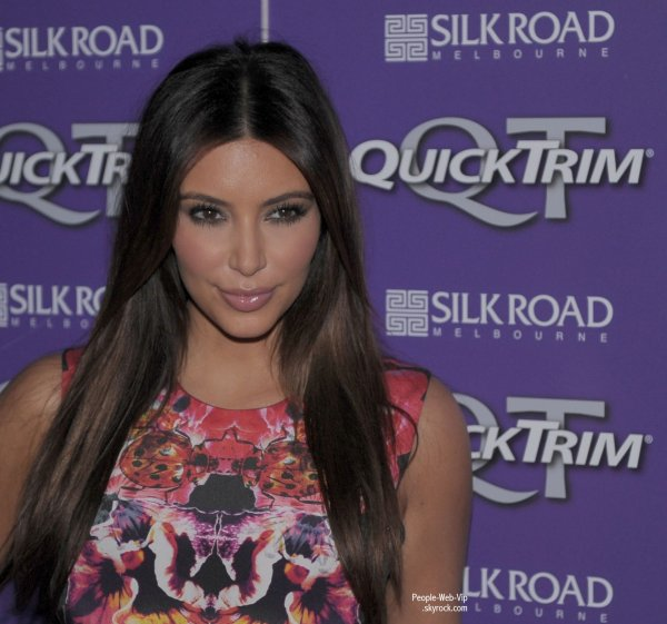 Kim Kardashian aperçu au Quick Trim VIP Event de Melbourne