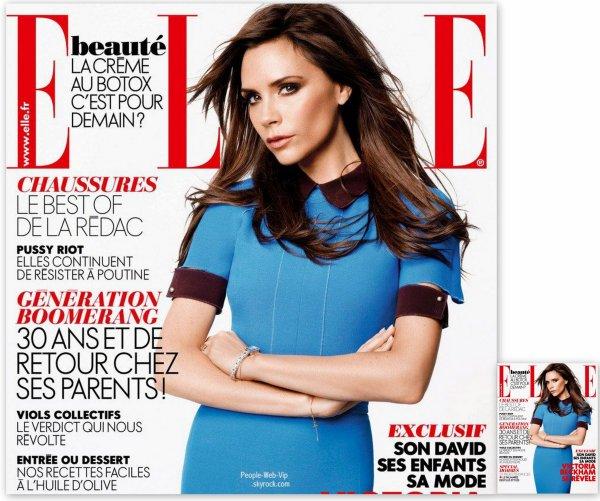 """VICTORIA BECKHAM En couverture du magazine """" ELLE France"""""""