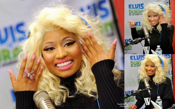 "Petite interview pour Nicki Minaj a la radio Z100  pendant l'émission ""Elvis Duran and the Z Morning Zoo radio show""  ( mercredi (Novembre 21) à New York.)"