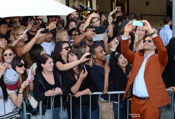 Bradley Cooper, Ed Helms, Zach Galifianakis, Justin Barthan & Ken Jeong, tous, à la première de leurs  film très attendu The Hangover Part III, (Very Bad Trip 3 )  ( lundi (20 mai) à Westwood, Californie)