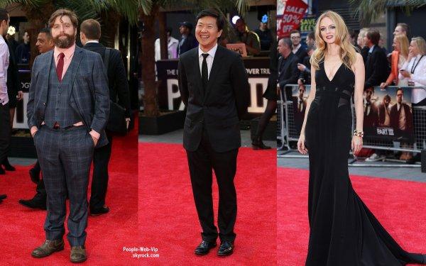 """Heather Graham, Zach Galifianakis,  Justin Bartha, Ed Helms, Ken Jeong et Bradley Cooper a la première de leurs film ' Very Bad Trip 3 """" ( mercredi (22 mai) s'est tenue à l'Empire Cinema à Londres, en Angleterre.)"""
