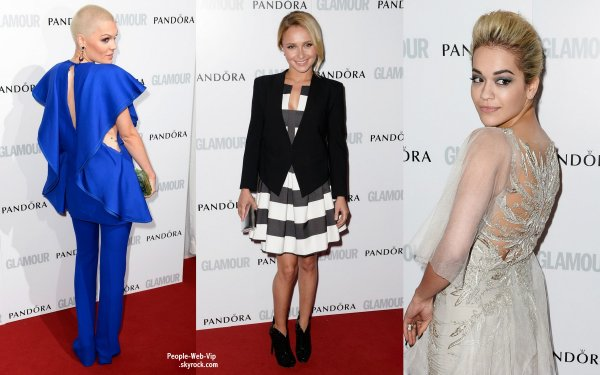 Rita Ora, Jessie J., Hayden Panettiere, Victoria Beckham et son fils Brooklyn et Cara Delevigne toutes glamour,  sur le tapis rouge de la cérémonie des 2013 Glamour Women of the Year Awards ! ( à Berkeley Square Gardens mardi (Juin 4) à Londres, en Angleterre.)
