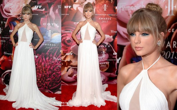 Taylor Swift est de toute élégance, a été aperçue au 2013 Fragrance Foundation Awards On aime sa tenue ?  ( au Alice Tully Hall du Lincoln Center, le mercredi (12 Juin) à New York.)