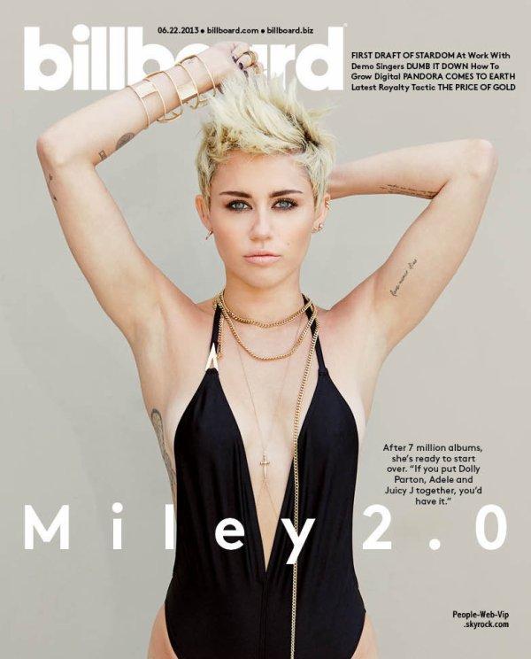 """MILEY CYRUS En couverture du magazine """" Billboard """" Qu'en pensez vous ?"""