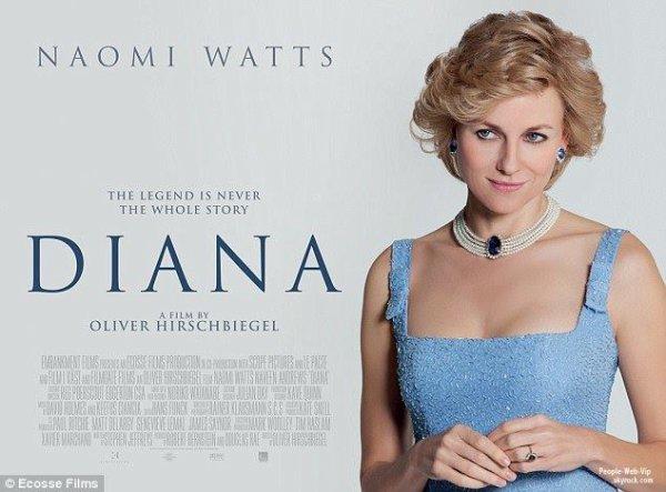 """DÉCOUVREZ La bande-annonce internationale du film d'Oliver Hirschbiegel """" DIANA """"  C'est Naomi Watts qui incarnera une Lady Diana plus vraie que nature."""