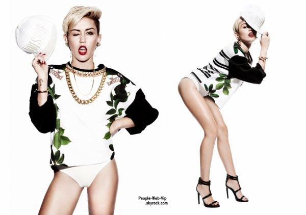 """Miley Cyrus  Pose pour le magazine """"Notion Magazine"""" Qu'en pensez vous ?"""