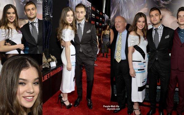 """Hailee Steinfeld, Douglas Booth et Taylor Swift, tous élégant à la première du film """"Romeo & Juliet """"  (au Cinerama Dome Theater mardi (24 Septembre) à Hollywood.)"""