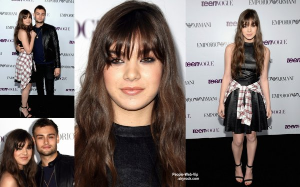 Hailee Steinfeld apercue avec Douglas Booth pendant la 2013 Teen Vogue Young Hollywood Party (vendredi soir (27 Septembre) à Los Angeles.)