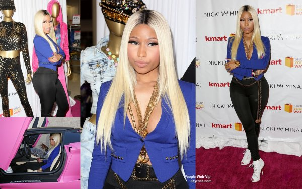 "Nicki Minaj sur le tapis rouge pendant le lancement de son "" Way of the Minaj Nicki Collection "" (mardi (15 Octobre ) chez Kmart à Los Angeles.)"