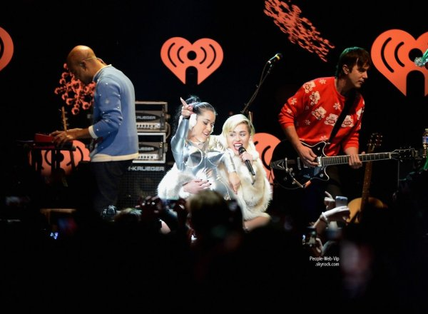 Miley Cyrus aperçue au Hot 99.5's Jingle Ball 2013 qui s'est tenue à Verizon Center ( lundi (16 Décembre ) à Washington , DC)