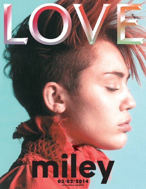 """Miley Cyrus  En couverture du magazine """" LOVE """" Qu'en pensez vous ?"""