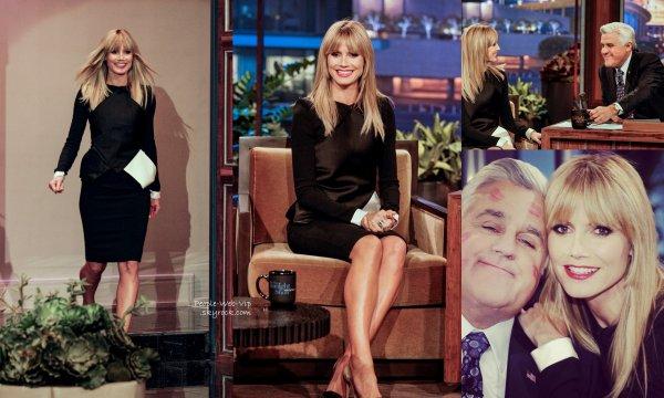 """Heidi Klum a fait une apparition à l'émission """"The Tonight Show avec Jay Leno"""". On aime sa tenue? (vendredi (24 Janvier) à Burbank, en Californie)"""