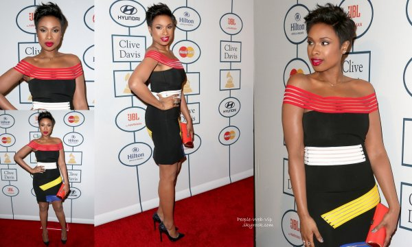 "Jennifer Hudson, Miley Cyrus, Lorde et Taylor Swift toute sur le tapis rouge des  ""2014 Clive Davis Pre-Grammy Gala and Salute to Industry Icons""  ( à la Maison de Blues vendredi (24 Janvier ) à Los Angeles .)"