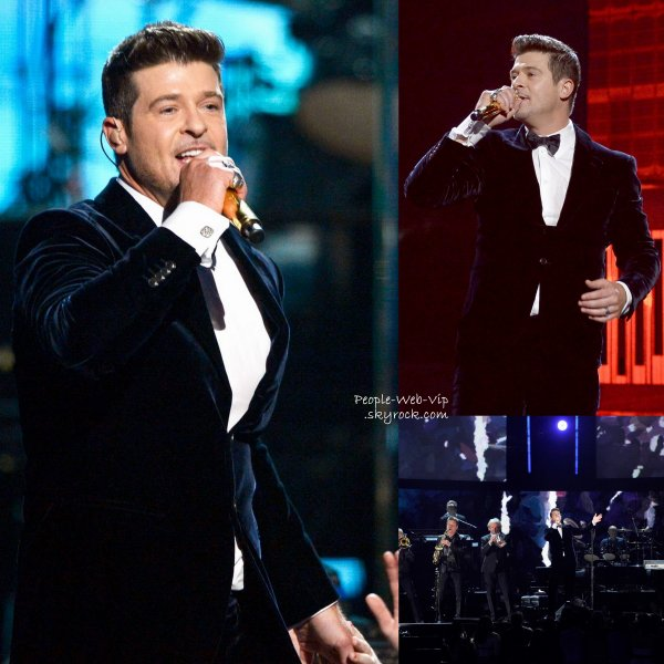 "GRAMMY AWARDS 2014 - PERFORMANCES  Taylor Swift chante ""All Too Well, Katy Perry sur son tube "" Dark Horse"" et Robin Thicke lui, perfome sur ""Does Anybody Really Know What Time It Is?,""""Saturday in the Park"" et son tube ""Blurred Lines."" (au Staples Center le dimanche (26 Janvier) à Los Angeles.)"