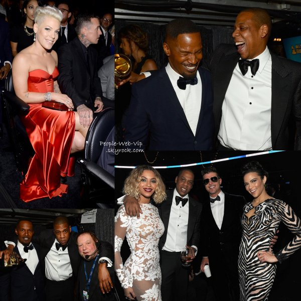 GRAMMY AWARDS 2014  BACKSTAGE, COULISSES, CALINS, GIFS.