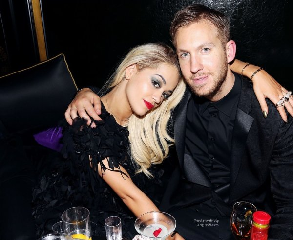 Rita Ora a été aperçue avec son chéri Calvin Harris pendant l'after party des Brit Award 2014, le Three Six Zero and Nokia MixRadio  ( mercredi (19 février) à Hakkasan à Londres, Angleterre.)