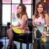"""Sophia Bush prend la pose avec Nick Lachey dans les coulisses """"VH1′s Big Morning Buzz Live"""" avant d'y faire une apparition. ( lundi (3 Mars ) à Times Square à New York)"""