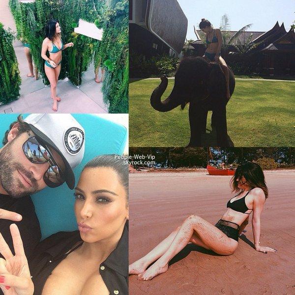Les soeurs Kardashian - Jenner ( Khloé Kardashian , Kendall Jenner , Kylie Jenner et Kim Kardashian ) sont en vacances en Thaïlande. Sable à Phang Nga, Plage à Phuket...