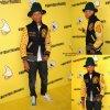 Pharrell Williams aperçu avec sa femme Helen Lasichanh alors qu'il assistait à son SpongeBob SquarePants dans le thème de son d'anniversaire pour y feter ses 41 ans.  (vendredi soir (4 Avril ) à Bikini Bottom au Cipriani Wall Street à New York .)