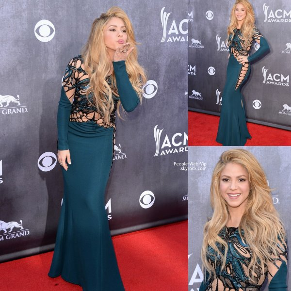 Taylor Swift s'est rendue aux Academy Of Country Music Awards 2014 mais aussi Shakira et Jamie Lynn Spears. (à la MGM Grand Garden Arena , dimanche (6 Avril ) à Las Vegas , Nevada)
