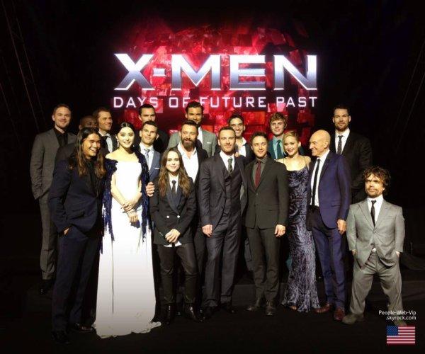 """"""" X-Men: Days of Future Past """" : Le plus grand casting de super-héros était réuni pour l'avant-première mondiale de X-Men: Days of Futur Past à New York !  ( samedi soir (10 mai ) au Jacob Javits Center à New York .)"""
