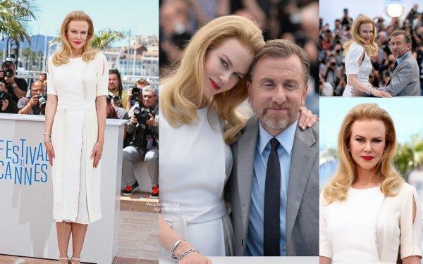 """- FESTIVAL DE CANNES 2014 - Nicole Kidman et l'acteur anglais Tim Roth sont les premières stars du Festival de Cannes. Les deux stars sont les interprètes principaux du film """"Grace of Monaco"""". Le long-métrage d'Olivier Dahan, présenté hors-catégorie, fait l'ouverture du Festival de Cannes. (mercredi (14 mai ) à Cannes , France)"""