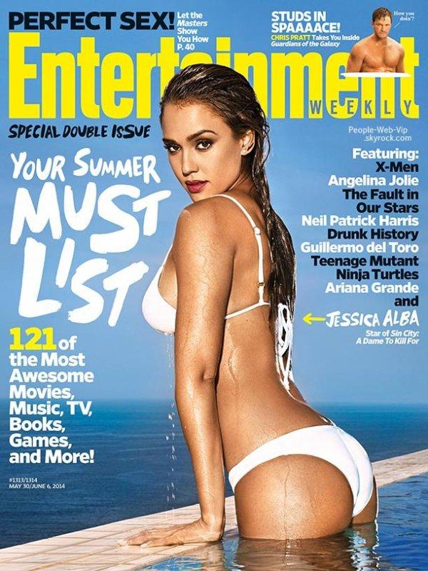"""Jessica Alba en couverture du magazine """"Entertainment Weekly's""""   Qu'en pensez vous ?"""