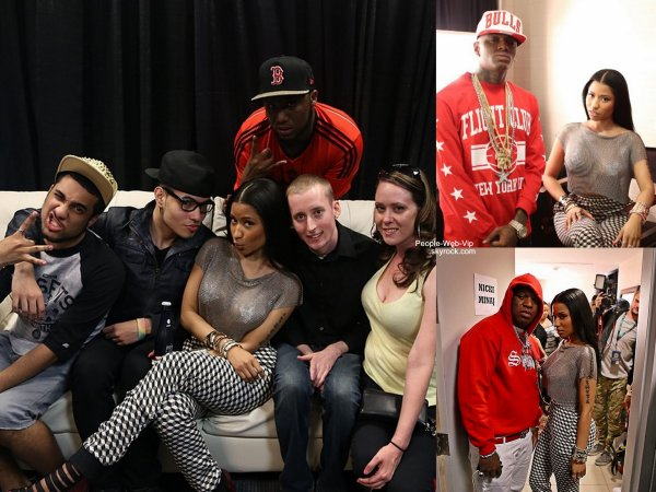 Nicki Minaj a été conviée au Summer Jam organisé par la radio Hot 97. Nicki Minaj a invité Rihanna, Drake,  Lil 'Wayne , 50 Cent , Wiz Khalifa , et plus encore. (dimanche (1 Juin ) à New York)