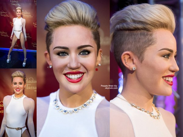 MILEY CYRUS CHEZ MADAME TUSSAUD !