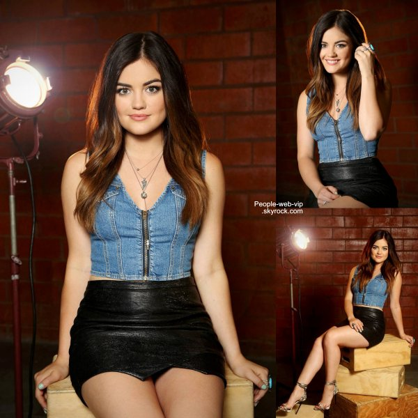 """Avant un live pour """"Yahoo""""  à Los Angeles la belle Lucy Hale a fait quelques portraits on été réalisés. Très belle Lucy ! Qu'en pensez vous ?"""
