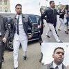 Chris Brown quitte le palais de justice après avoir comparu devant le juge.  Perso j'aime beaucoup le nouveau Breezy ! Et vous ? (mercredi après-midi (25 Juin) à Washington, DC )