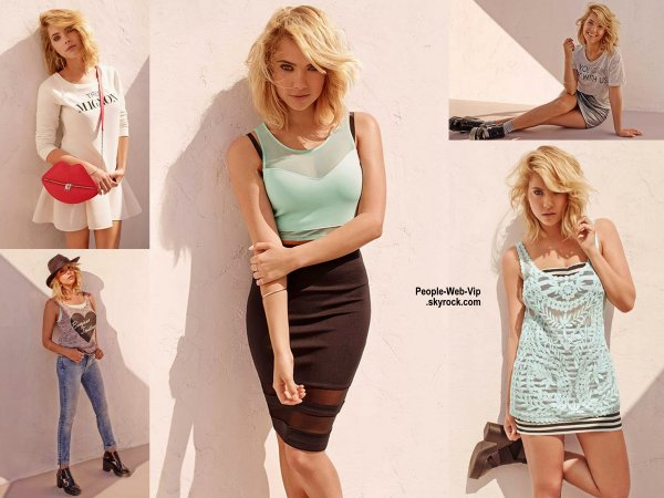 """Ashley Benson nouveau égérie de H&M Après Beyoncé, Miranda Kerr, Gisèle Bündchen et le sexy David Beckham comme égéries, c'est au tour d'Ashley Benson, qui incarne Hanna de la série """" Pretty Little Liars"""", d'être la nouvelle représentante de  la ligne Divided."""