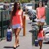 Eva Longoria a été aperçue dans les rues de la Californie. (samedi après-midi (12 Juillet) à Burbank, en Californie)
