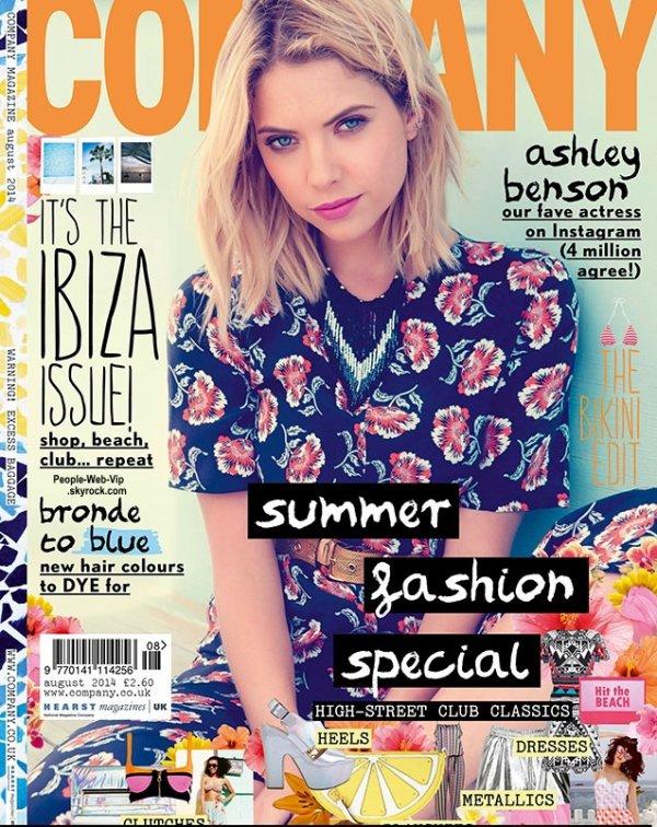 """Ashley Benson en couverture du magazine """" COMPANY """" Qu'en pensez vous ?"""