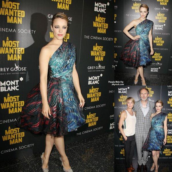 """Rachel McAdams assiste à la première de son nouveau film """"A Most Wanted Man"""". Elle a été rejointe par Robin Wright et Anton Corbijn.   (mardi (22 Juillet) à New York. )"""