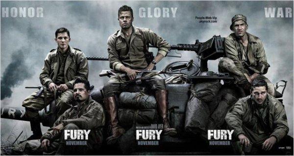 """""""Fury"""" Date de sortie : 22 octobre 2014 // Avec : Brad Pitt, Shia LaBeouf, Logan Lerman"""