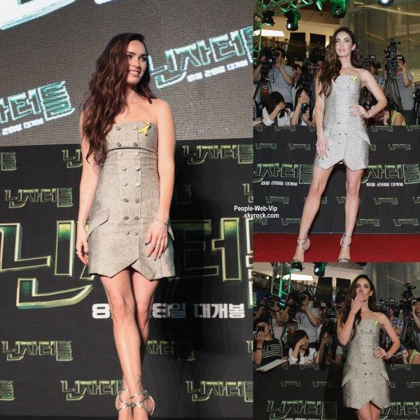Megan Fox à la première de son dernier film Teenage Mutant Ninja Turtles au CGV Yeoido à Séoul (mardi (26 Août), en Corée du Sud. )