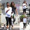 Zoe Saldana a fait un peu de shopping pour son bébé avec son mari Marco Perego (lundi (25 Août) à West Hollywood, en Californie. )