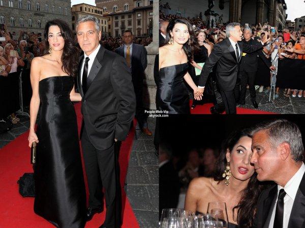 George Clooney a été aperçu à la Celebrity Fight Night In Italie Gala. L'acteur a été rejoint par sa fiancée Amal Alamuddin lors de l'événement. ( dimanche (7 Septembre) à Florence, en Italie. )