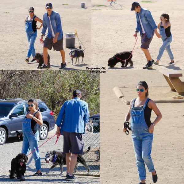 Mila Kunis et son baby bump a été aperçue avec son fiancé Ashton Kutcher dans un parc de Los Angeles. (samedi (6 Septembre) à Los Angeles.)