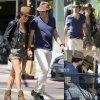 Ian Somerhalder et sa petite amie Nikki Reed se tiennent la main en se promenant dans les rues de la Californie. ( après-midi (7 Septembre) à West Hollywood, en Californie.)