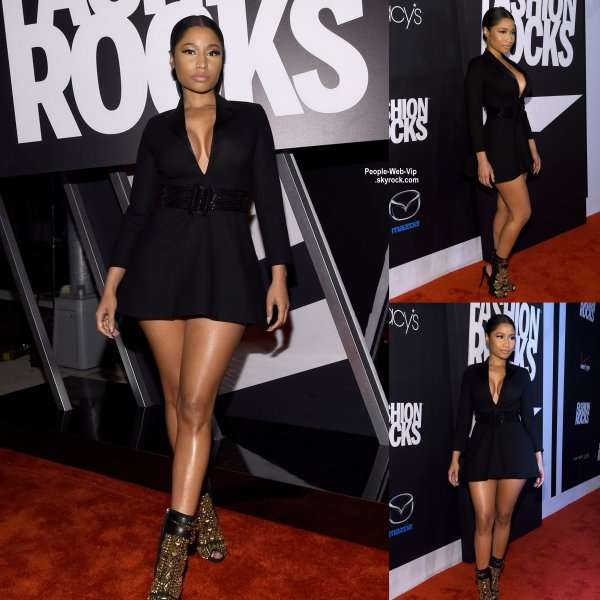 "Nicki Minaj pose sur le tapis rouge lors du  ""2014 Fashion Rocks "" (au Barclays Center de Brooklyn le mardi (9 Septembre) à New York. )"