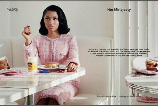 "Nicki Minaj ; Découvrez son photo shoot pour le magazine "" DAZED "" On aime?"