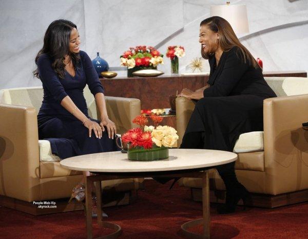"""Bientôt maman, Zoe Saldana a fait une apparition sur le plateau télé de l'émission """"The Queen Latifah Show"""", diffusée ce mardi."""
