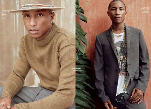 Le rappeur / producteur Pharrell Williams pose sur la couverture de Novembre du magazine Ebony.  Qu'en pensez vous?