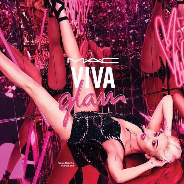 Miley Cyrus, égérie MAC Viva Glam 2015