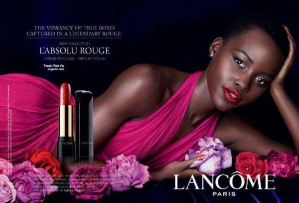 Lupita Nyong'o : Découvrez sa nouvelle campagne de publicité pour le maquillage Lancôme . Qu'en pensez vous?
