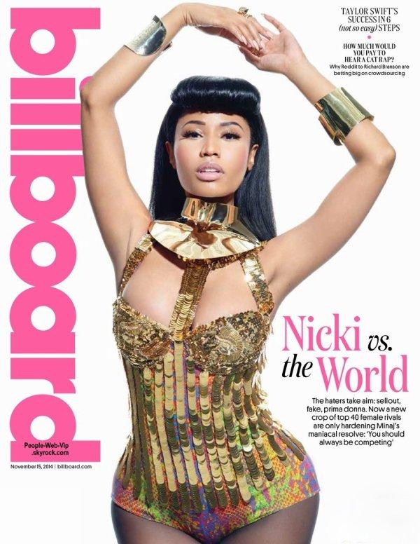 """La rappeuse de 31 ans, Nicki Minaj pose sur la couverture du dernier numéro du magazine """"Billboard"""" Qu'en pensez vous?"""