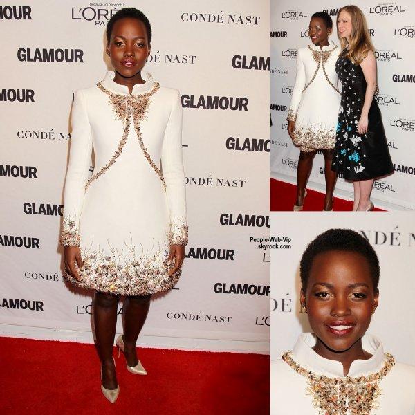 Élue Femme de l'Année,  Lupita Nyong'o, en CHANEL [/i, a été récompensée hier soir par Glamour (au Carnegie Hall le lundi soir (10 Novembre) à New York.)